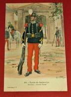 MILITARIA - Uniformes - Ecole De Saint Cyr - Bataillon - Grande Tenue - 39 -  Illustrateur Alphonse Lalauze - Uniformes