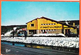 X12277 ⭐ Peu Commun LAGUIOLE (12) Chalet SOURCE Bar-Hotel-Restaurant Hiver DS CITROEN 1970 à Guy ROQUES Maisons-Alfort - Laguiole