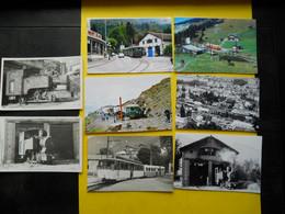Photo ,TRAMWAY Et Gares De Haute Savoie , Collection Bourneuf , Lire Descriptif , Mont-Blanc ,Fayet ,cliché Frionnet - Trains