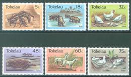 TOKELAU - MNH/** - 1986  - CRAB PORK HEN TURTLE GOAT DUCK - Yv 137-142 -  Lot 23445 - Tokelau