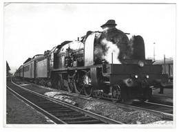B15 - 2 Photos Belgium Steam Locomotive Type 10 - SNCB Cinephoto Bruxelles - Treinen
