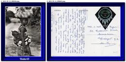 1967 Liberia Postcard Woman With Kid Franked Sierra Leone To UK - Liberia