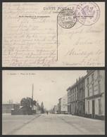 "Bataillon Allemand - Feldpostkarte + Cachet Avec Aigle ""X. Armeerungs - Bataillon"" (6. Armee) / N°2 Place De La Gare - Landen"