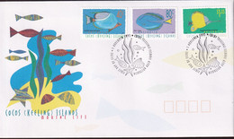 Cocos Keeling Islands 1995 Marine Life Sc 306,309,313 FDC - Cocos (Keeling) Islands