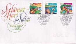 Cocos Keeling Islands 1997 Festive Season Sc 323-25 FDC - Cocos (Keeling) Islands