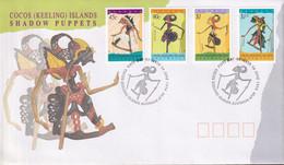 Cocos Keeling Islands 1994 Puppets Sc 293-96 FDC - Cocos (Keeling) Islands