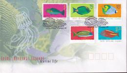 Cocos Keeling Islands 1997 Fish Sc 304,311-12,14 FDC - Cocos (Keeling) Islands