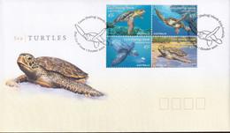 Cocos Keeling Islands 2002 Turtles Sc 336 FDC - Cocos (Keeling) Islands