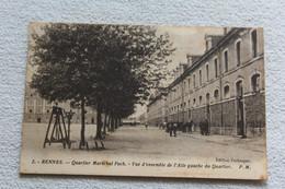 Cpa 1909, Rennes, Quartier Maréchal Foch, Vue D'ensemble Aile Gauche Du Quartier, Ille Et Vilaine 35 - Rennes