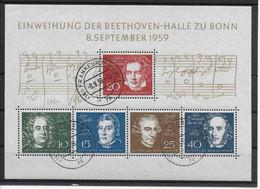 116 DEUTSCHE BUNDESPOST. Beethoven. Block 02 (Michel 315 - 319) - Gebruikt