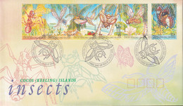 Cocos Keeling Islands 1995 Insects Life Sc 302-03 FDC - Cocos (Keeling) Islands