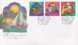 Cocos Keeling Islands 1996 Festive Season Sc 316-18 FDC - Cocos (Keeling) Islands