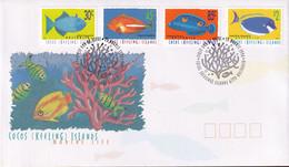 Cocos Keeling Islands 1996 Fish Sc 305,307,310,315 FDC - Cocos (Keeling) Islands