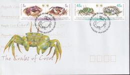Cocos Keeling Islands 2000 Crabs Sc 333-34 FDC - Cocos (Keeling) Islands