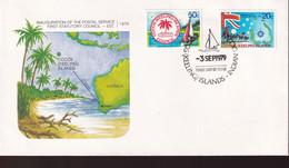 Cocos Keeling Islands 1979 Inauguration Sc 32-33 FDC - Cocos (Keeling) Islands