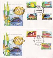 Cocos Keeling Islands 1979-80 Fish Sc 34-50 FDC (5 Covers) - Cocos (Keeling) Islands