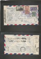 PANAMA. 1943 (31 March) GPO - Portugal, Lisboa (17 June) Air Multifkd Censored Envelope + Better Destination. - Panama