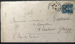 France 1922 Lettre De Valenciennes Vers St Laurent Blangy - Briefe U. Dokumente
