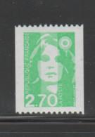 FRANCE / 1996 / Y&T N° 3008 ** : Briat (roulette) 2F70 Vert Sans N° - Gomme (usuelle) X 1 - Unused Stamps