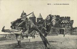 Militaria Satirique METZ La Porte Des Allemands RV - Patriotic