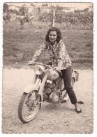 MOTOCICLETTA NON IDENTIFICATA  -  MOTORCYCLE   - FOTO ORIGINALE 1962 - Automobili