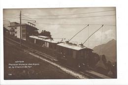 28143 - Leysin Pension Violette Des Alpes Et Le Chemin De Fer Train - VD Vaud