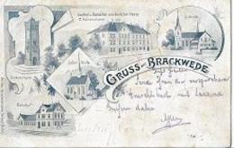 07 04/ U V//  GRUSS AUS BRACKWEDE   1899 !!!! - Non Classificati