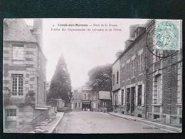 14  ,condé Sur Noireau ,le Pont De La Roque En 1907 - Other Municipalities