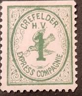Germany Stadtpost/Privatpost Krefeld 1886 Michel B9 Unused 1PFG - Sello Particular