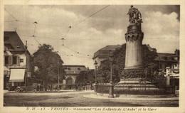 """Troyes  Monument """"Les Enfants De L'Aube Et La Gare  10Aube France Frankrijk Francia - Troyes"""