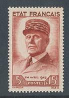 FRANCE - N° 580 NEUF** SANS CHARNIERE - COTE : 22€ - 1943 - Ungebraucht