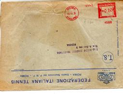 1934 EMA Affrancatura Meccanica Rossa Freistempel Roma Stadio P.N.F. II° Tipo Macchina 1586 Del CONI - Non Classificati