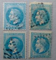 8 NAPOLÉON N°29 AVEC VARIÉTÉS - 1863-1870 Napoléon III Lauré