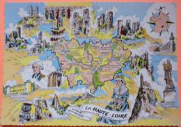 CARTE DEPARTEMENT LA HAUTE LOIRE - LE VELAY - SCAN RECTO/VERSO - 3 - Carte Geografiche