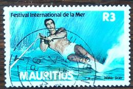 Maurice - YT N°678 - Festival International De La Mer / Ski Nautique - 1987 - Oblitéré - Mauricio (1968-...)