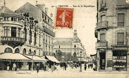 Troyes Rue De La République  10Aube France Frankrijk Francia - Troyes