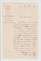 NOTAIRE  -- G. GERMAIN   --- LA FLECHE  ( SARTHE )  S De  MARTIN   -- 1879 - 1800 – 1899