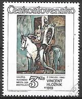 TCHECOSLOVAQUIE  -  1986.   Y&T N° 2699 Oblitéré .  Tableau De Vincent Hloznik  /  Cirque. - Usados