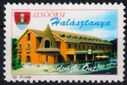 Fish Restaurant ALSŐÖRS Lake BALATON - Cook Food / LABEL CINDERELLA VIGNETTE 1995 MNH My Stamp - Hotels, Restaurants & Cafés