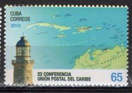 Cuba  2019. 22 Caribbean Postal Union Conference. Lighthouse. Map. MNH - Ungebraucht