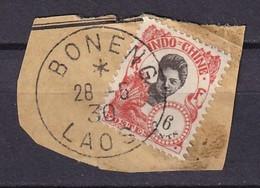LAOS - 6 C. Indochine Oblitéré Sur Fragment De BONENG LAOS Le 28/5/30 - Laos
