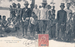 LAOS - Carte Postale Avecun Groupe De Laotiens Du Bas Laos Du 20 Mai 1904 - Laos