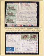 LAOS - 2 Lettres De 1976 Avec ROYAUME DU LAOS Biffé Et Non Biffé - 2 Scans - Laos