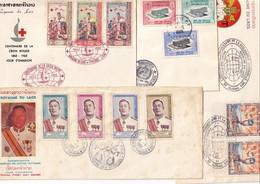 LAOS - 4 FDC De 1962/68 - Laos