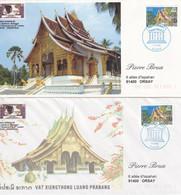 LAOS - Temple De Louang Prabang - 4 FDC Du Timbre Unesco - 2 Scans - Laos