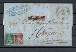 Toscane  1Cr & 2Cr Op Brief Van Marigliano (Napoli)  Naar Livorno - Toskana