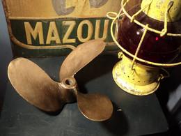 Ancienne Hélice De Bateau Trois Pales Bronze. Déco Marine, Pêche, Moteur. - Barche