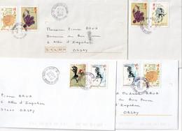 LAOS - 10 Lettres De Voeux De L'association De Collectionneurs Du Laos Avec Les Années Du Zodiaque Chinois - 3 Scans - Laos