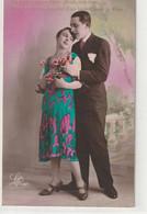 Couples 601 : Ta Lèvre Est Une Fleur Idéale , Une Rose Que Je Voudrais Cueillir D'un Baiser ; édit. Léa Paris N° 1197 - Coppie