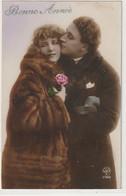 Couples 602 : Bonne Année 1924 , Rose , Manteau De Fourrure ; édit. A Noyer N° 3740 - Coppie